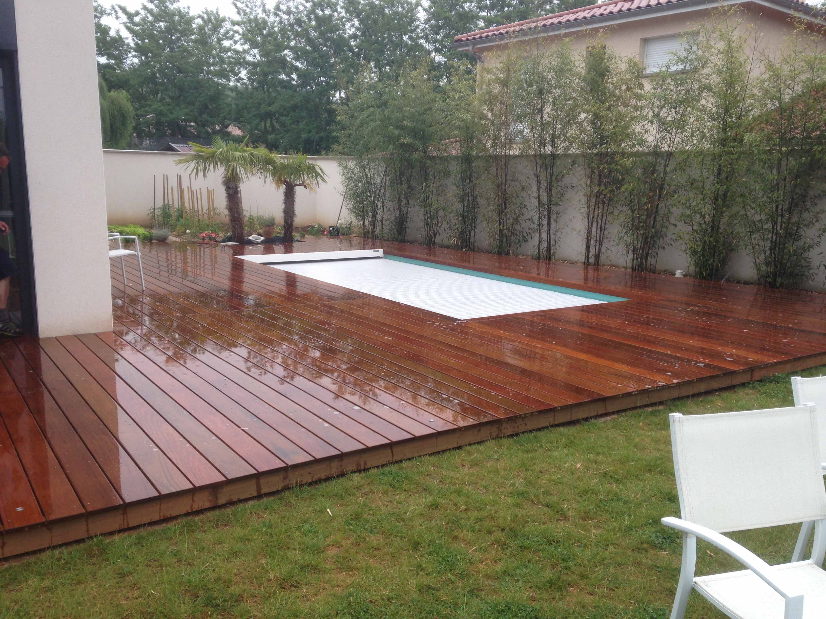 R alisation d 39 une terrasse piscine en bois ip monts d 39 or for Cheb hichem 2015 la piscine